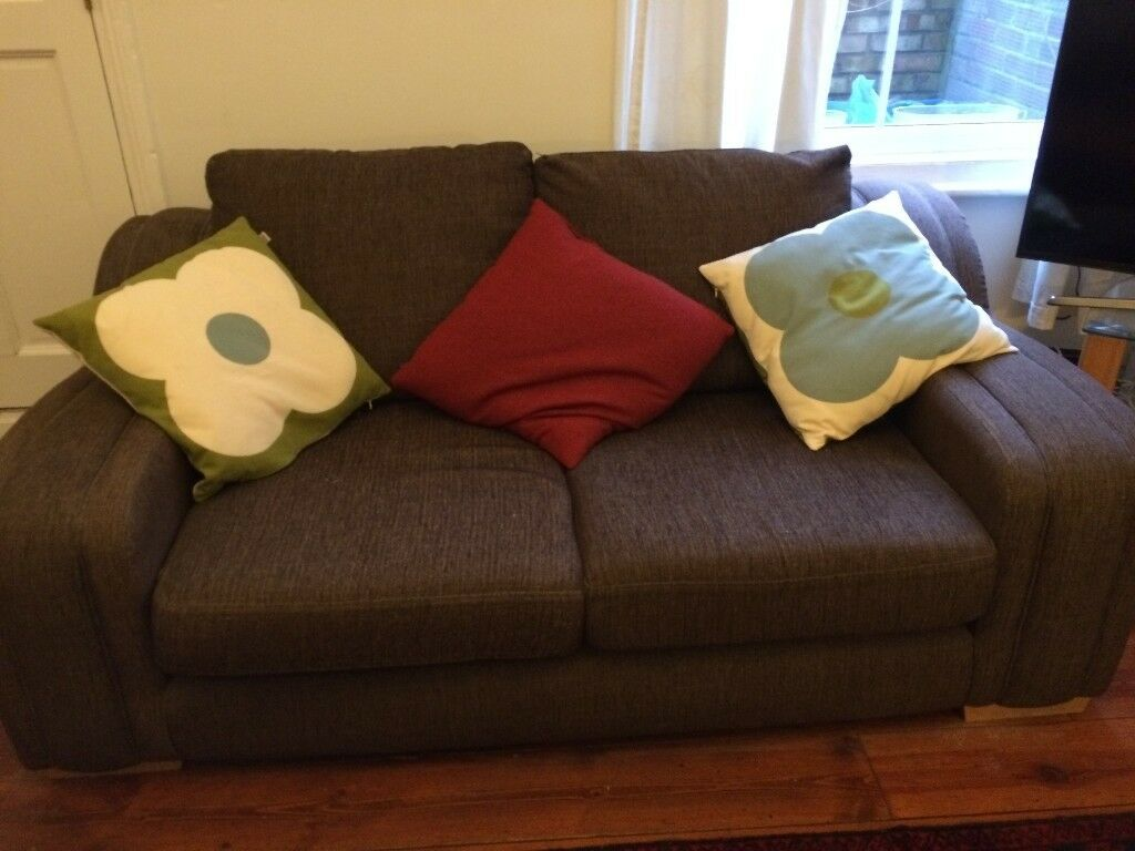 2 x decent brown sofas, free to anyone who can collect!