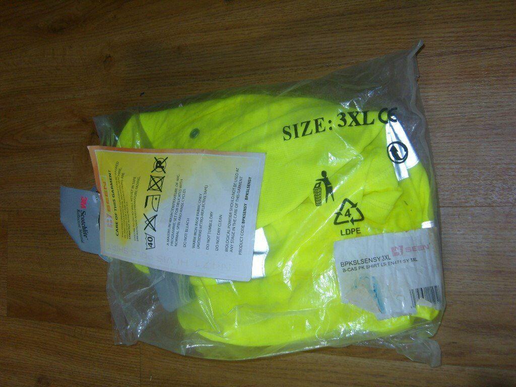 BPKSENSY B-Seen High Visibility Hi Viz Safety PPE Work Short Sleeve Polo Shirt