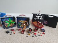 Playmobil police and pirate bundle sets