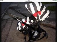 Cosatto go lightly buggy with matching foot muff