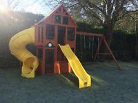 Treehouse climbing frame nearly new