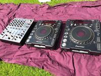 PIONEER CDJ 1000 mark MK2 and mixer £300.00