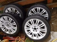 SPORTS ALLOYS 18'' WITH TYRES 265 35 FROM MERCEDES E CLASS WILL FIT OTHERS GERMAN CARS