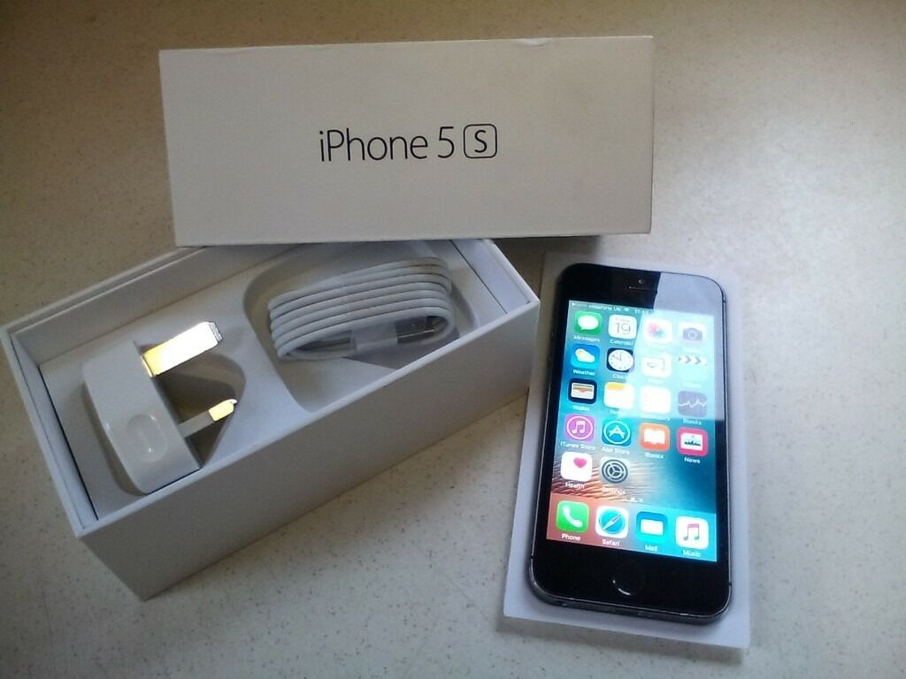 iphone 5s 16 gig on vodaphonein Rochdale, ManchesterGumtree - Iphone 5s 16 gig on vodaphone slate grey looks new everything working as it should apart from the finger print comes with box plug and charger lead