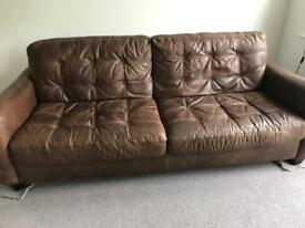 3 seater leather settie