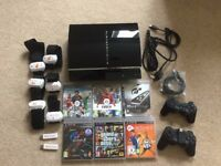 Sony Playstation 3 60GB Original Fat Model (CECHC03) With 6 Games Bundle - SOLD