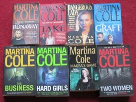 MARTINA COLE, 8 THICK PAPER BACK BOOKS, titles in description, good condition, smoke/pet free home