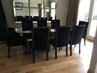 Sterling Smoke glass dining table & 8 chairs