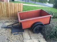 Car trailer for sale a 4.5ft long by 3ft wide