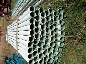 6mt x 100mm Green Ducting pipes for sale