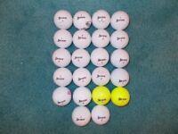 22 x SRIXON GOLF BALLS - 18 Distance & 4 Z-Star. Grade A/B Condition!