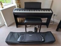 Kawai ES100 Digital Piano with Stand, Stool and Case (+ folding stand and stool)