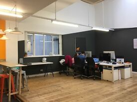 **Creative desk space in airy studio 2mins from Brixton tube**