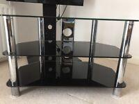 Black Glass 3- tier Tv Stand