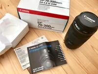 Canon Lens with Filter (70-300mm IS USM f4-5.6)