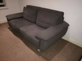 3 SEATER SOFA BED CHARCOAL COLOUR VERY GOOD CONDITION