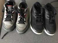 2 pairs of infant trainers size 8.5