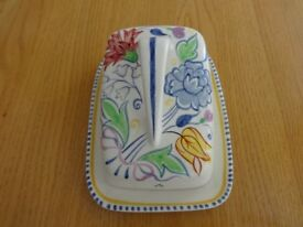 Vintage Poole Pottery Cheese/Butter Dish 1950's