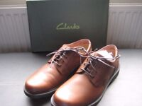 Gents Clarks brown leather shoes