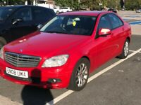 2008 08reg Mercedes C200 2.2 Cdi SE Red Good runnee