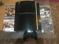 PS3 Console 1 controller 4 Games Super silent