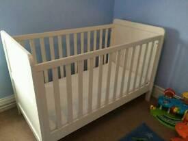 Mamas & Pappas Cream Cot bed Ex Condition