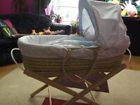 Moses basket , like new