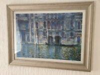 Monet print in nice frame