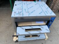 """NEW ITALIAN 2 DECK PIZZA OVEN 8 X 13"""" CATERING COMMERCIAL FAST FOOD RESTAURANT SHOP BBQ"""