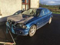 Bmw 318i front end damage