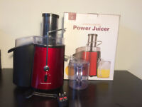 Red whole fruit power juicer