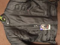 XXL Gear X leather biker jacket with removable armour. New with tags