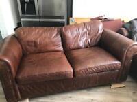 Next brown leather sofas