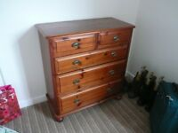 Pine Chest of Drawers and a Bedside Cabinets.