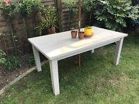 Garden table - sturdy, seats six.