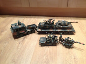 Various battle transport vehicles with figures