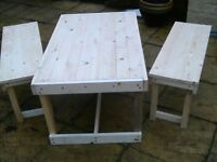 small bench set