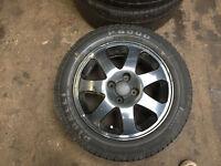"""honda civic vti em1 15""""alloy wheels with tyres black 4x100 ek4 vti ej9 eg 92-00"""