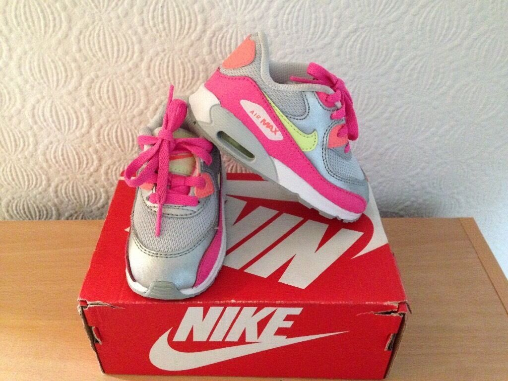 vbioj Nike Air Max 90 baby girls shoes size UK 5.5 ; EUR 22 | in