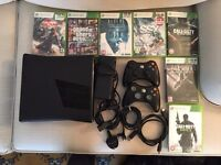 XBOX 360 + 2 Controllers + 7 Games all in excellent working condition