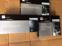 New Top of the Range B&Q Linear Designer Bath, Shower, Basin Mixer Set inc Shower Head all Complete