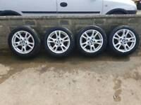 Bmw 16' alloys with good tyres