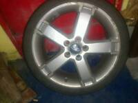 """Ford focus, mondeo transit connect 5x108 alloys 17"""" with 2 good tyres"""