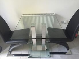 Dining table with 2 Z chairs