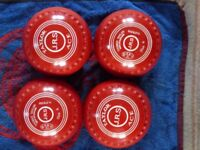 Coloured Taylor Ace Bowls 4 heavy WB19 stamp