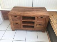 Solid wood TV cabinet / sideboard
