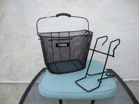 Front Handle bar fitting Metal Mesh Shopping Basket + Bracket