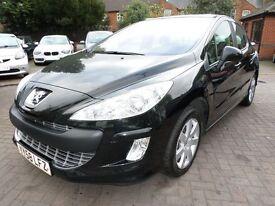 Peugeot 308 1.6 VTi SE 5dr 2008 (58 reg), Hatchback FULL VOSA HISTORY, DIESEL, BLACK, 2 OWNERS