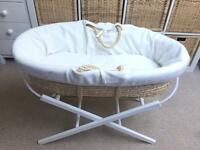 Moses Basket with Free Stand and Matress - baby