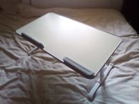 Portable folding adjustable Laptop/Notebook/Tablet/Book desk suitable for use in bed or on a sofa